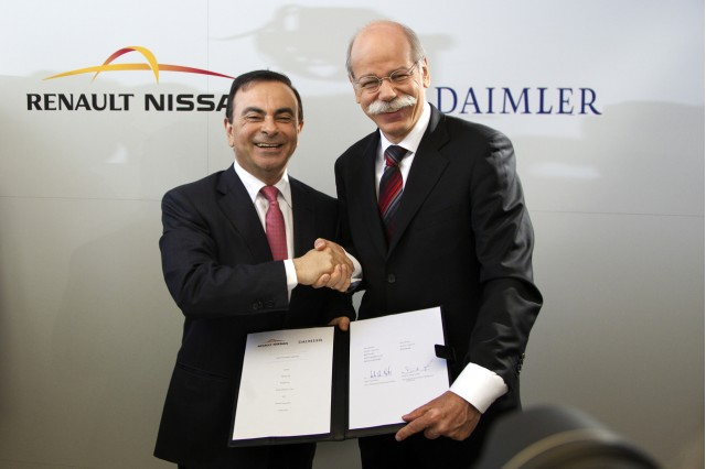 Renault-Nissan CEO Carlos Ghosn and Daimler AG CEO Dieter Zetsche #8547365