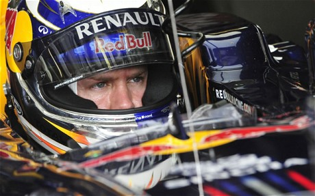 Sebastian Vettel at 2011 Hungarian Grand Prix