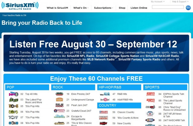 SiriusXM 'Bring Your Radio Back to Life' campaign