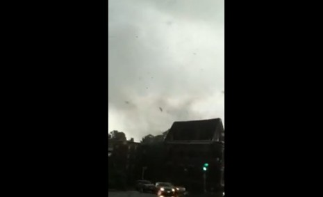 Springfield, Massachusetts tornado from car