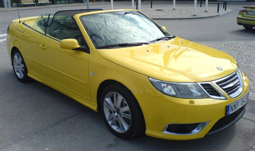spy shots 2008 saab 9 3 aero convertible. Black Bedroom Furniture Sets. Home Design Ideas