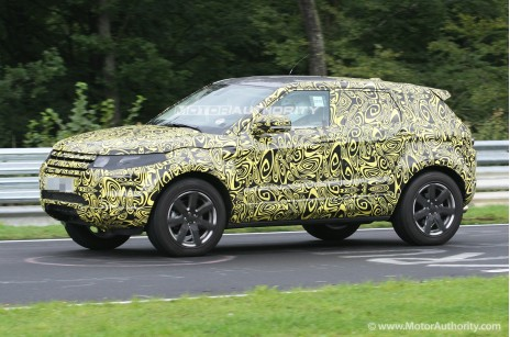 Spy shots: 2012 Range Rover Evoque five-door