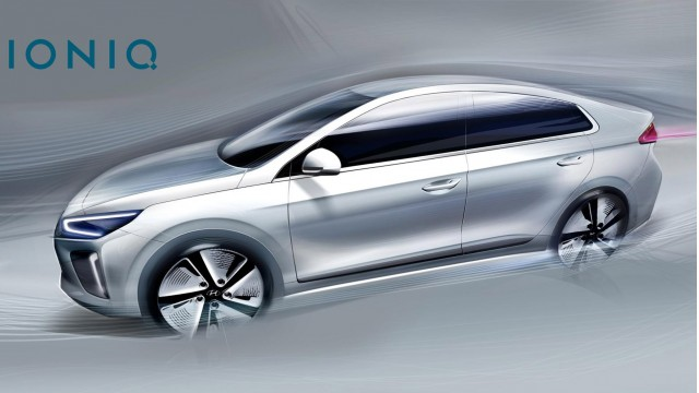 More 2017 Hyundai Ioniq Sketches Before Hybrid Electric Cars Debut