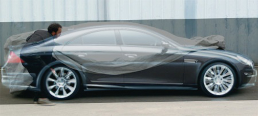 Tesla Model S overlaid with Mercedes-Benz CLS [SOURCE: Autoblog.nl]