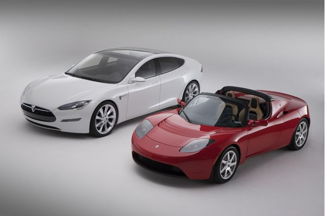 2010 Tesla Model S and Roadster