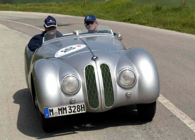 The 2012 Mille Miglia second place car, a 1939 BMW Mille Miglia Roadster
