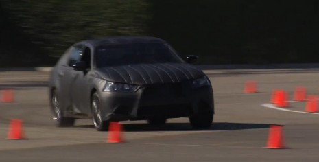 The 2013 Lexus GS attacks an autocross course