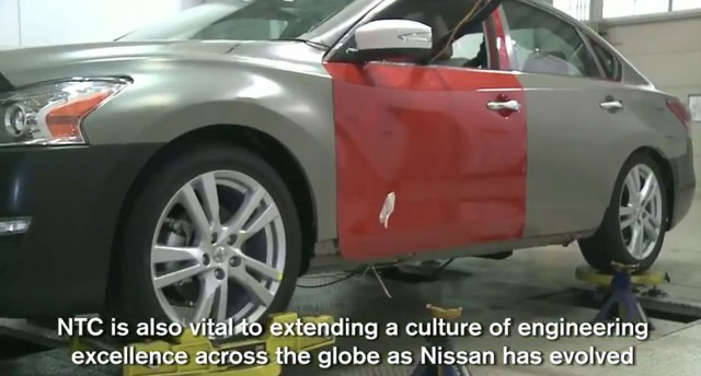 The 2013 Nissan Altima, sans disguise.