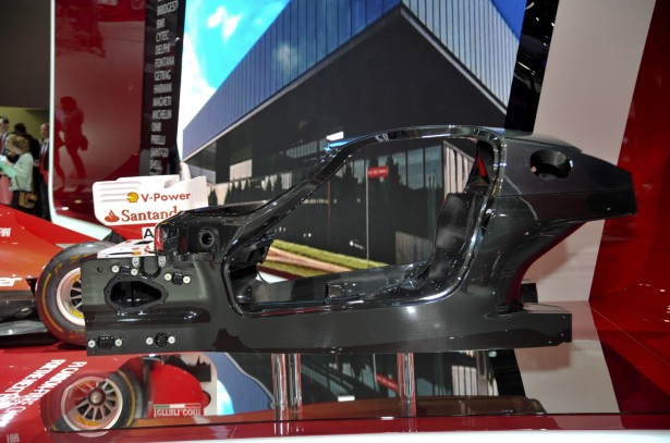 The carbon fiber tub of the upcoming Ferrari F70