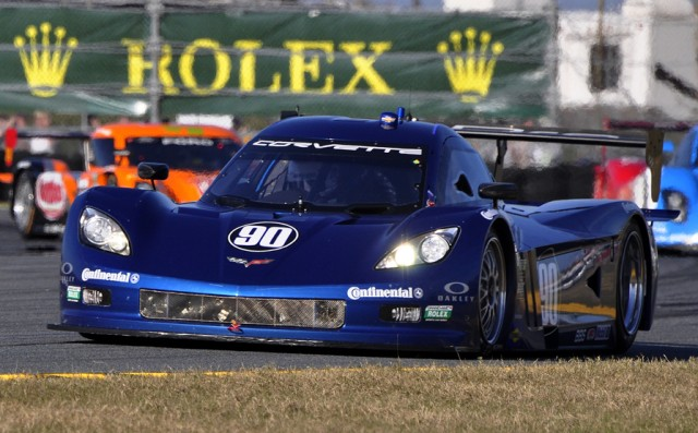 The Spirit of Daytona Corvette DP led at quarter distance - Anne Proffit photo