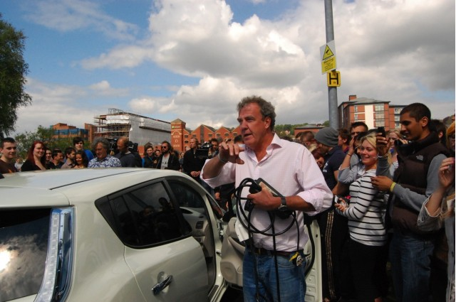 Top Gear, Filming in Lincoln, England with 2011 Nissan Leaf and 2011 Peugeot iOn. Reproduced with permission, The Lincolnite