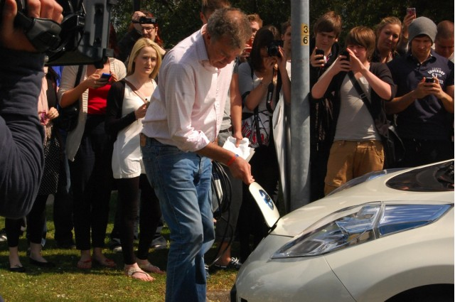 Top Gear Stage Another Electric Car Stunt #8419258