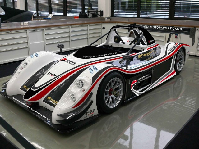 Toyota's all-electric custom-built racecar.