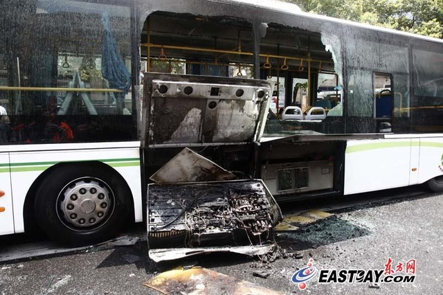 Chinese Electric Bus Catches Fire On Road Not The First One