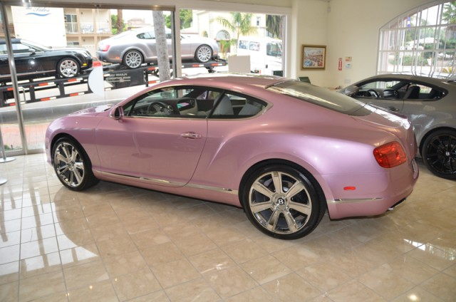 Unique 'Passion Pink' 2012 Bentley Continental GT #9496429