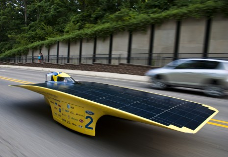 University of Michigan's Quantum Solar Racer. Image: Evan Doughety