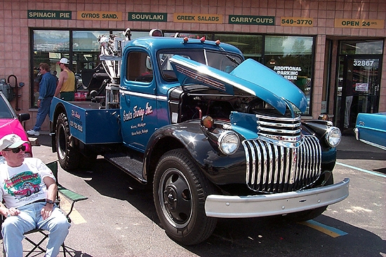 vintage tow truck. Black Bedroom Furniture Sets. Home Design Ideas