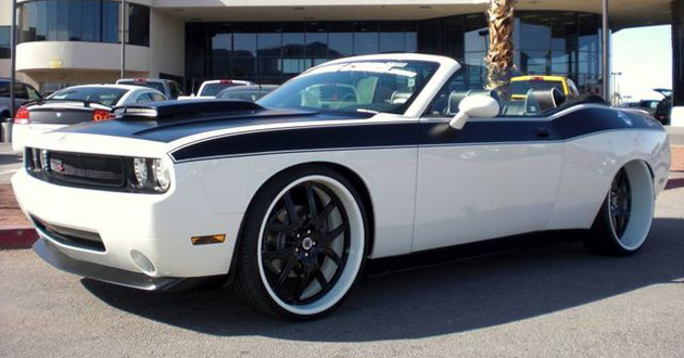 eBay watch Dodge Challenger widebody convertible by West