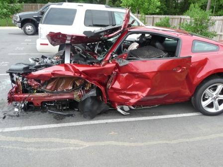 Wrecked 2010 Mustang Gt On Test Drive Five Star Safety
