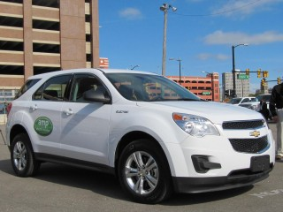 AMP Electric converted Chevrolet Equinox electric crossover, Detroit, October 2010