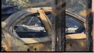 2011 Chevrolet Volt destroyed in Barkhamsted, CT, garage fire; image from WTNH News 8 report