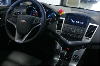 2011 Chevrolet Volt mule - Cruze interior with test-car kill switch