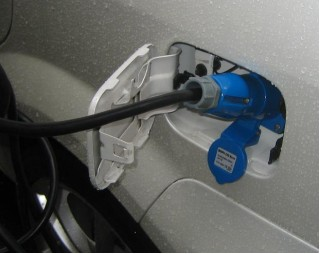 2011 Coda Sedan prototype - charging socket
