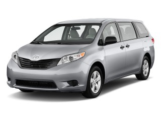 2011 Toyota Sienna 5Dr 7 Pass Van V6 Fwd Natl Angular Front Exterior View 100308236 S