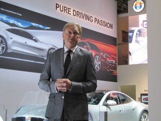 Henrik Fisker launches 2013 Fisker Surf, Frankfurt Motor Show, September 2011