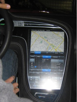 2012  Tesla Model S - instrument panel display screen