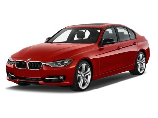 Angular Front Exterior View - 2013 BMW 3-Series 4-door Sedan 335i RWD