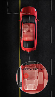 2013 Cadillac XTS - Lane Departure Warning and Safety Alert Seat