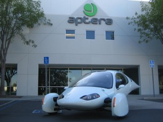 Aptera 2e development prototype at company offices in Vista, California