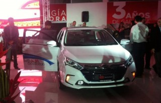 BYD Qin plug-in hybrid in showroom in Costa Rica