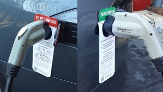 Electric Car 'Do Not Unplug' Notices: Public Education At Its Best