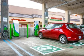 Nissan Leaf at eVgo Freedom Station Daly City, California
