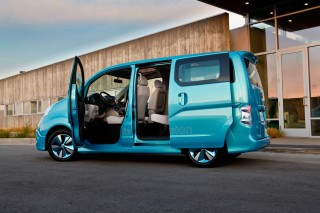 Nissan's electric-powered e-NV200 concept.