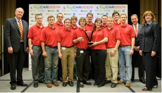 Ohio State University EcoCAR Challenge team, first-place winners in 2009 (first of three years)