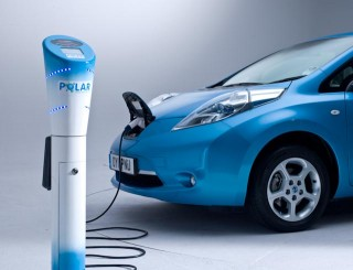 Polar Charging Post and Nissan Leaf