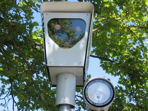 Red light camera in Beaverton, Oregon, from Wikipedia