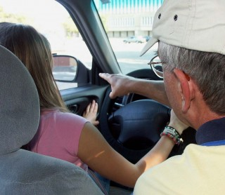 Teen drivers - lesson with Dad - AAA Foundation for Traffic Safety
