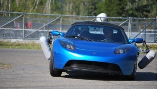Tesla Roadster as used by videogame designers