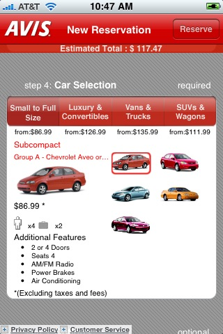 iphone app du jour avis rent a car. Black Bedroom Furniture Sets. Home Design Ideas