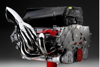 V-8 engine from Ferrari's 2008 Formula 1 race car