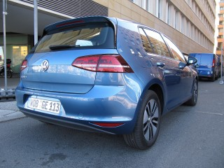 Volkswagen e-Golf (European model) test drive, Berlin, March 2014